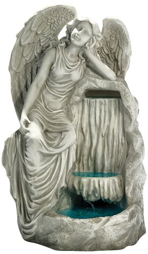 Design Toscano Resin Resting Grace Angel Garden Fountain