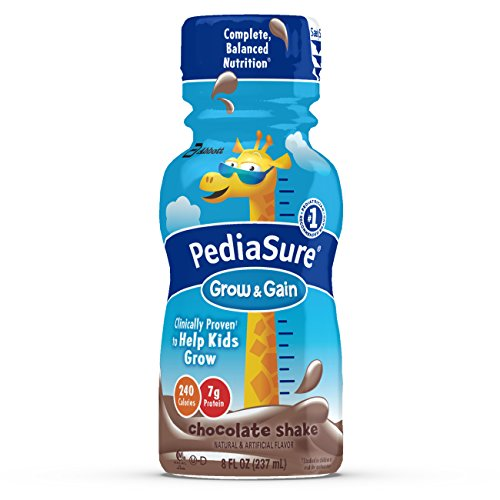 Price comparison product image PediaSure Grow & Gain Nutrition Shake For Kids, Chocolate, 8 fl oz (Pack of 24)
