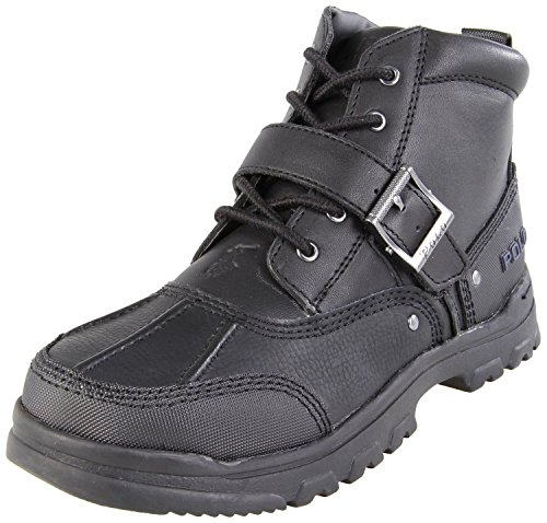 Polo By Ralph Lauren Tyrek II Boot (Toddler/Little Kid/Big Kid),Black Leather,5 M US Toddler