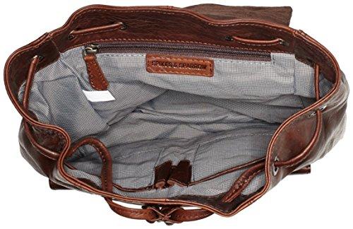 Spikes & Sparrow Backpack, Zaini Unisex - Adulto Marrone (Dark Brown)