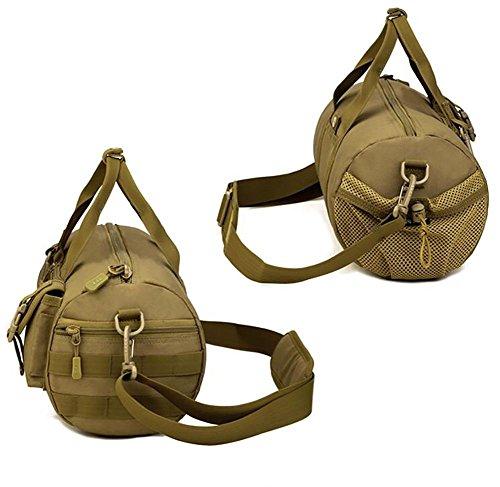 Hombre capacidad grande del bolso del bolso del recorrido del cilindro de nylon impermeable 39 * 20 * 19cm , 1 4