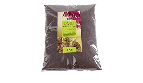 Turba Rubia Natural con perlita Solo para Plantas carnívoras: Amazon.es: Jardín
