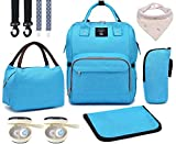 Diaper Bag Set, 8-in-1 Baby Care Backpack for Mom