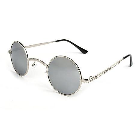 Aoligei Gothic Steampunk Sonnenbrille Retro-Runde Rahmen Metallrahmen männliche und weibliche Sonnenbrillen-Prinz JWaHKc4Yf