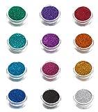 12 Pack of Glimmer Body Art Shimmer Body Glitters