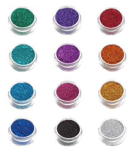 12 Paquet de Glimmer Body Art Body Shimmer Glitters