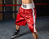Title Edge Boxing Trunks, Red/White, Youth Medium