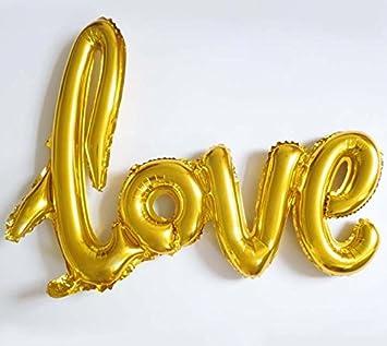Globo de la hoja 100 cm Balón, oro letras