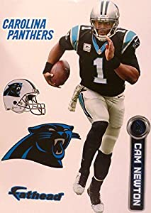 "Cam Newton FATHEAD Carolina Panthers Official NFL Vinyl Wall Graphic 16"" INCH"