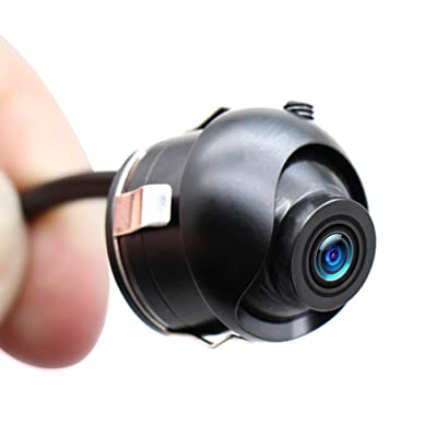 Car Backup Camera, EWAY Mini HD 360 Degree Rotatable Auto Multifunction Front/Side/Rear View Camera Universal Mirror Flush Mount Motorcycle Helmet Camera, Flip Image Gridline Switcher, 18.5mm Hole Saw: Car Electronics