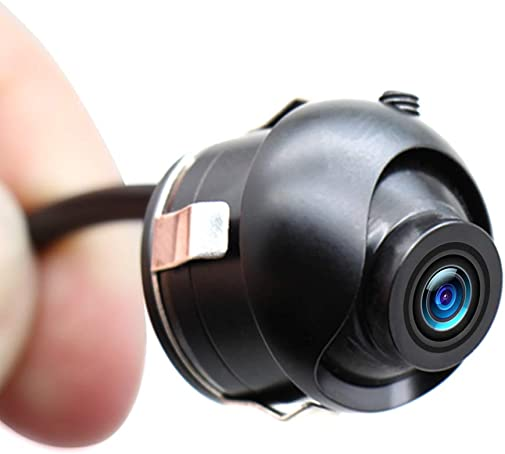 Car Backup Camera, EWAY Mini HD 360 Degree Rotatable Auto Multifunction Front Side Rear View Camera Universal Mirror Flush Mount Motorcycle Helmet Camera, Flip Image Gridline Switcher, 18.5mm Hole Saw