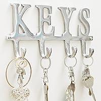 "Key Holder ""Keys"" – Wall Mounted Key Holder - 4 Key Hooks..."