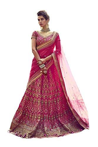 Da Facioun Indian Women Designer Wedding p[ink Lehenga Choli K-4758-42020