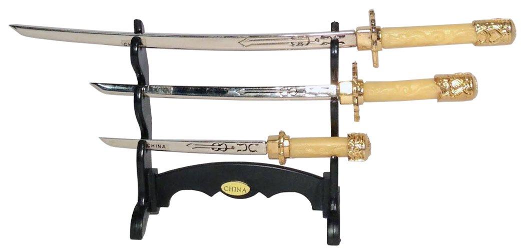 Amazon Com Set Of 3 Mini Desk Decorative Swords