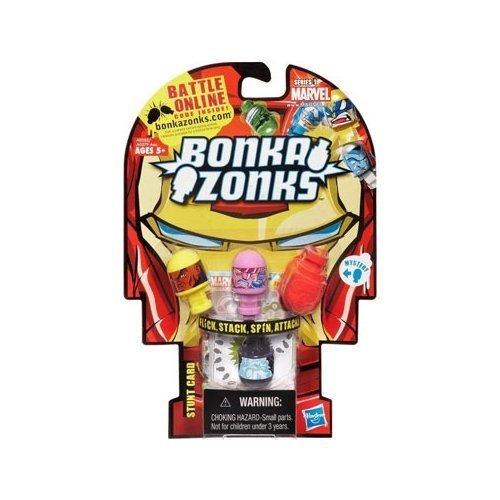 Marvel Universe Bonkazonks Series 1 Marvel 4-Pack in Iron Man Packaging with 1 secret character (Colors and Styles may v