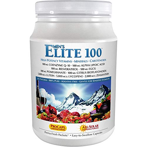 Andrew Lessman Multivitamin – Men's Elite-100 120 Packets – 40+ Potent Nutrients Plus 100mg Each of Coenzyme Q10, Alpha Lipoic Acid, Resveratrol, EGCG, Pomegranate, Citrus Bioflavonoids. No Additives