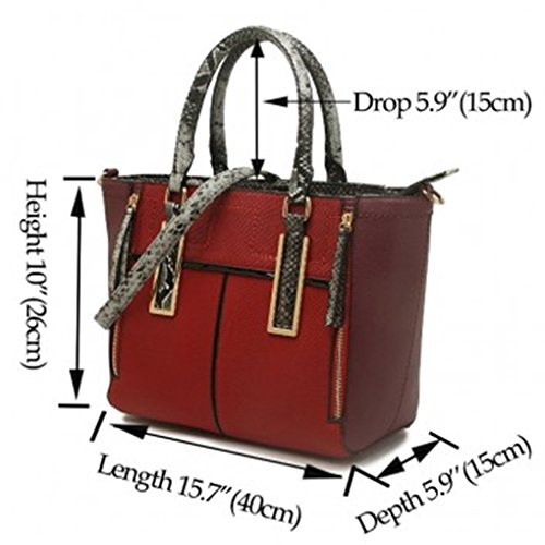 School BAG BROWN Size Women Tote TWO Handbags Shoulder College For Bags Clearance Sale TONE CW102 LeahWard A4 Large BTpwzz