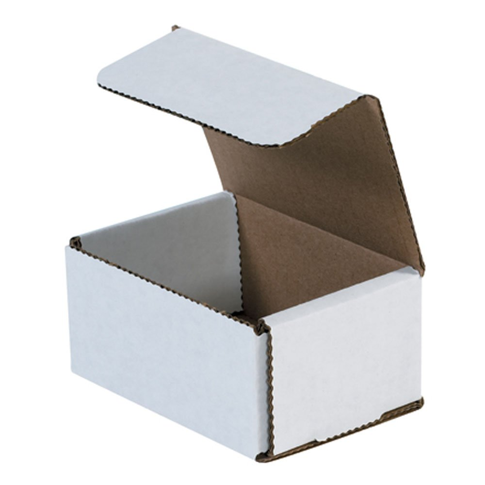 Aviditi M432 Corrugated Mailer, 4'' Length x 3'' Width x 2'' Height, Oyster White (Bundle of 50)