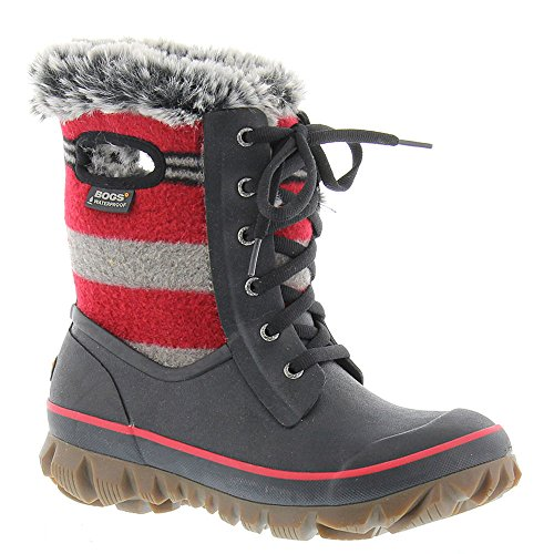 Waterproof Multi Red Boot Bogs Arcata Women's Winter Stripe wc7x17qt8Z