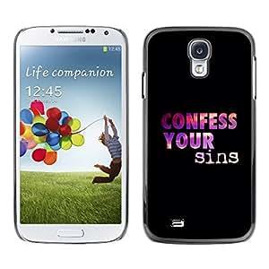YOYO Slim PC / Aluminium Case Cover Armor Shell Portection //CONFESS YOUR SINS //Samsung Galaxy S4
