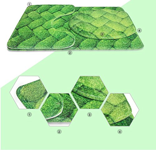 """3 Piece Bath Rug Set Nalahome design-313099961 Mermaid in the Sunset with Green Ha Bathroom Rug(19.29""""x31.1"""")/large Contour Mat(15.35""""x19.29"""")/Lid Cover(13.58""""x17.51"""") For Bathroom(blue) hot sale 2017"""