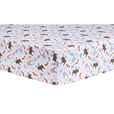 Trend Lab Scandi Forest Fitted Crib Sheet, Multi