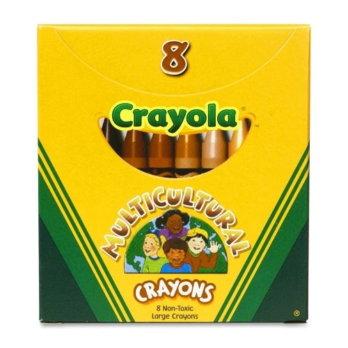 Crayola 52 080W LARGE Multicultural Crayons