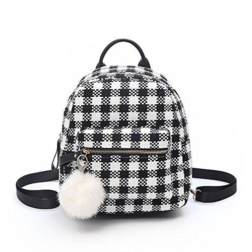Minimalist Elegant Bag Black Khaki Square Meaeo Bag Small Backpack Backpack Small Rffw17