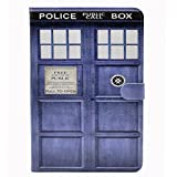 Doctor Who Tardis Blue Police Call Box Pattern Leather Flip Stand Case Cover Slim Book Shell Stand Case Cover for Apple iPad mini 7.9 inch Tablet ipad mini 3, 2 and 1th Protector Case