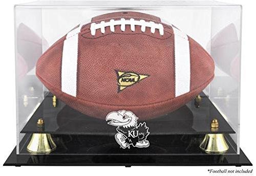 Kansas Jayhawks Golden Classic Football Logo Display Case with Mirror Back by Sports Memorabilia