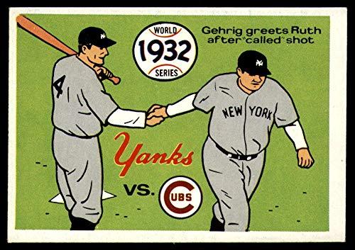 (Baseball MLB 1970 World Series #29 1932 - Yankees vs. Cubs - Lou Gehrig/Babe Ruth NM Near Mint)