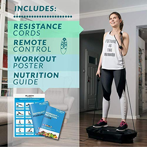 Bluefin Fitness Dual Motor 3D Vibration Platform   Oscillation, Vibration + 3D Motion   Huge Anti-Slip Surface   Bluetooth Speakers   Ultimate Fat Loss   Unique Design   Get Fit at Home by Bluefin Fitness (Image #4)