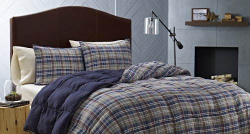 Eddie Bauer Rugged Plaid Comforter Set, Full/Queen, Dune