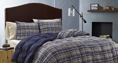 Eddie Bauer Rugged Plaid Comforter Set, King, (California King Plaid Comforter)