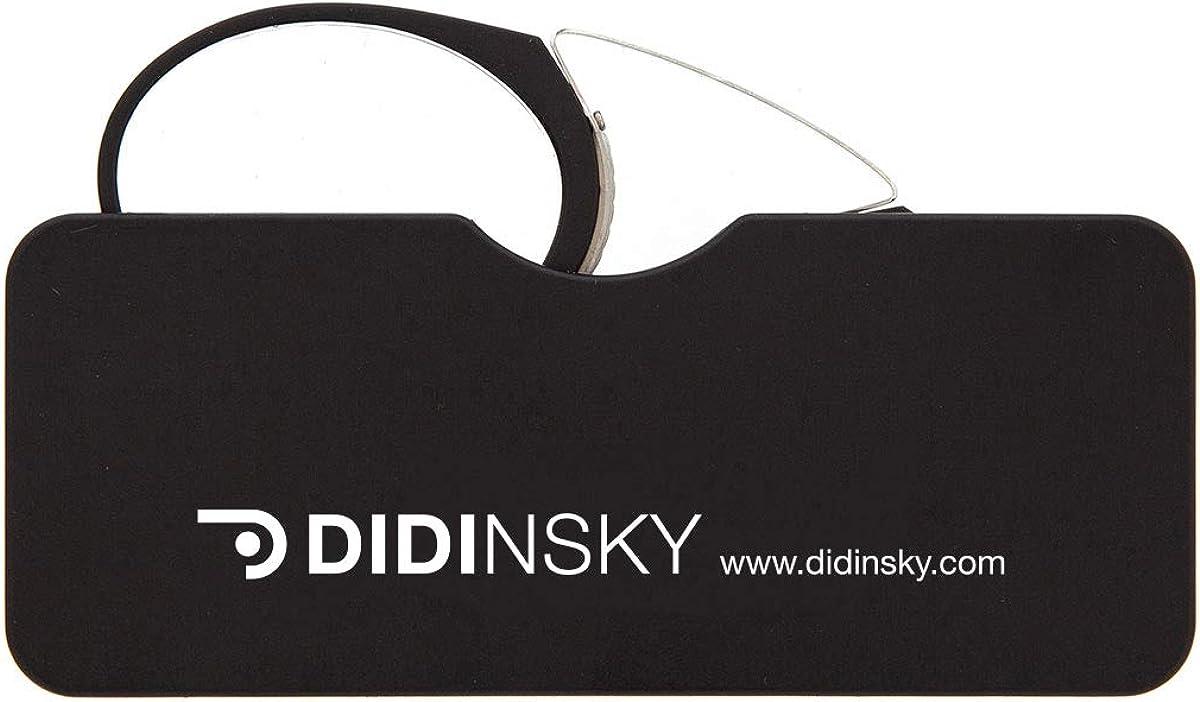 DIDINSKY Gafas de lectura sin patillas graduadas para hombre y mujer transparentes. Gafas de presbicia para hombre y mujer retro o vintage para vista cansada. 4 colores y 5 graduaciones – ORSAY