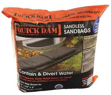 Sandlss Sandbag, 24inLx12inW, 30-7/8lb, PK6