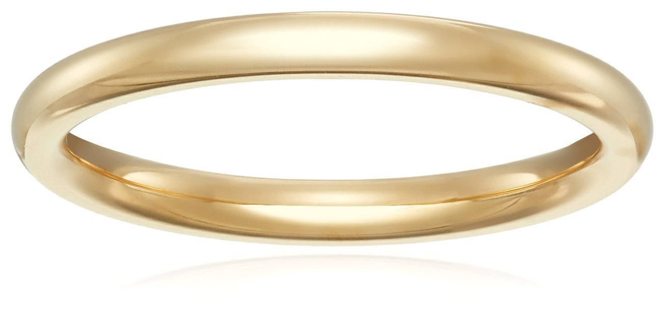 Standard Comfort-Fit 14K Yellow Gold Band, 2mm, Size 6