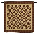 Colonial Patches Burgundy Wall Hanging Quilt 44 Inches by 44 Inches 100% Cotton Handmade Hand Quilted Heirloom Quality