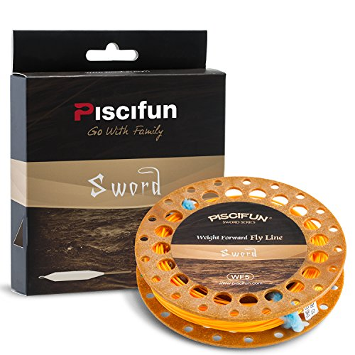 Piscifun Sword Weight Forward Floating Fly Fishing Line with Welded Loop WF6wt 100FT Orange Review
