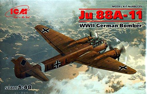 ICM48235 1:48 ICM Ju 88A-11 WW2 German Bomber [MODEL BUILDING KIT]