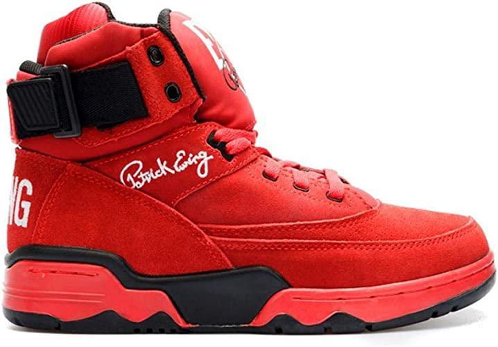 uk store super cheap top brands Amazon.com | PATRICK EWING Athletics 33 HI Red Suede/White/Black ...