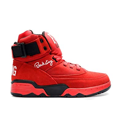 91fc5833bb1 Amazon.com | PATRICK EWING Athletics 33 HI Red Suede/White/Black OG  1EW90013-601 | Basketball