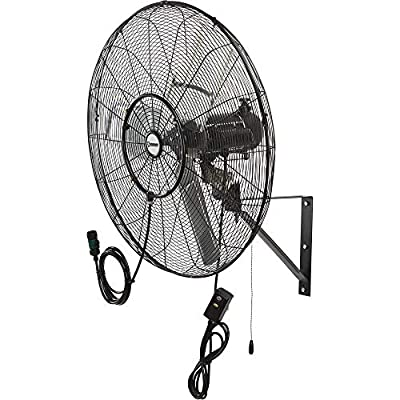 Strongway Outdoor Wall-Mount Misting Fan - 30in, 7200 CFM