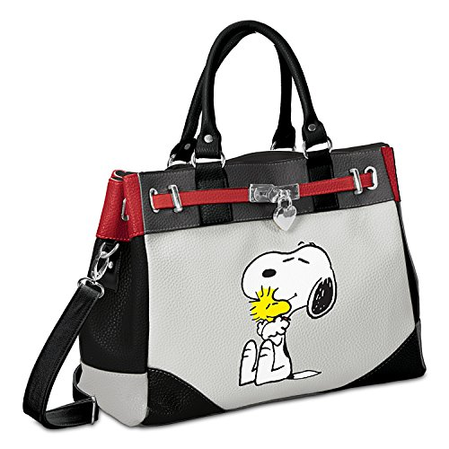 PEANUTS Happiness Is Friendship Snoopy And Woodstock Faux Leather Handbag by The Bradford Exchange - Peanuts Pals