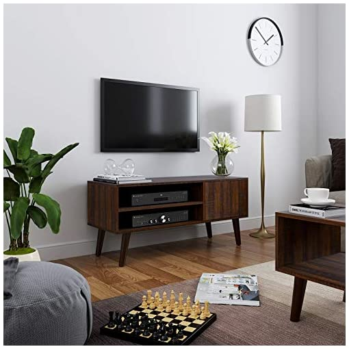 Living Room VASAGLE TV Stand, TV Cabinet for TVs up to 43 Inches, Mid-Century Modern TV Console Entertainment Center for Living Room… modern tv stands