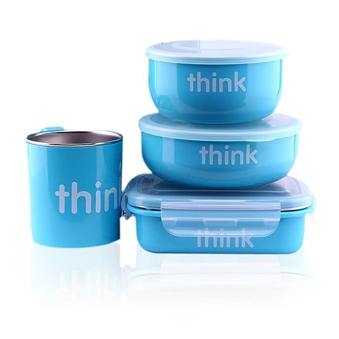 Orange Thinkbaby Complete BPA Free Feeding Set