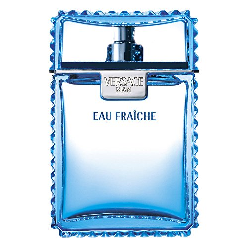 Versace Man Eau Fraiche for Men Gift Set 1.7 oz EDT Spray + 1.7 oz Shower Gel + 1.7 oz Shampoo