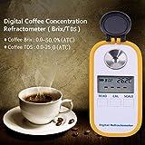 Coffee Digital Refractometer Digital Coffee Refractometer Coffee Concentration Refractometer Portable Coffee Brix TDS Meter Fruit Juice Sugar Refractometer Brix Refractomer Brix0-50.0% Accuracy0.2%ATC