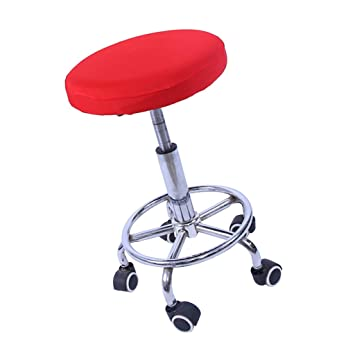 fenteer 1piece 11 14inches stretch elastic bar stool cover round