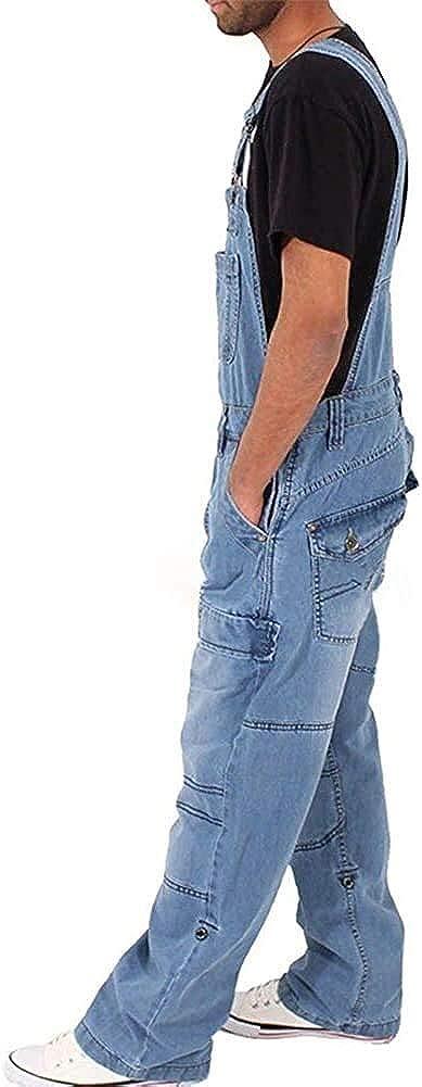 Pantalones Cortos Hombre Ajustables Tirantes Anchos Modernas Pantalones Flojos Casual De Cortos Mezclilla Peto Multiples Bolsillos Grandes Pantalones De Chandal Herramienta Ropa De Moda Ropa Aceautocare Net